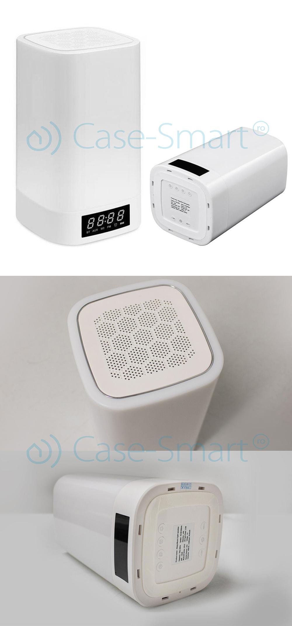 Boxa RGB wi-fi, ceas alarma, Bluetooth Red Sun WBSL-Q6