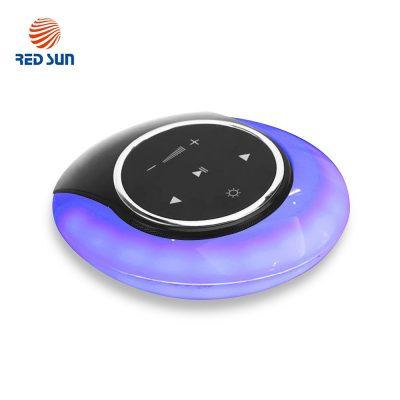 Boxa portabila Red Sun Moon Bay cu lampa cu LED, Bluetooth 4.0, RS-WBSL-07 culoare albastra