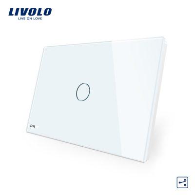 Intrerupator cap scara/cruce cu touch Livolo din sticla – standard italian