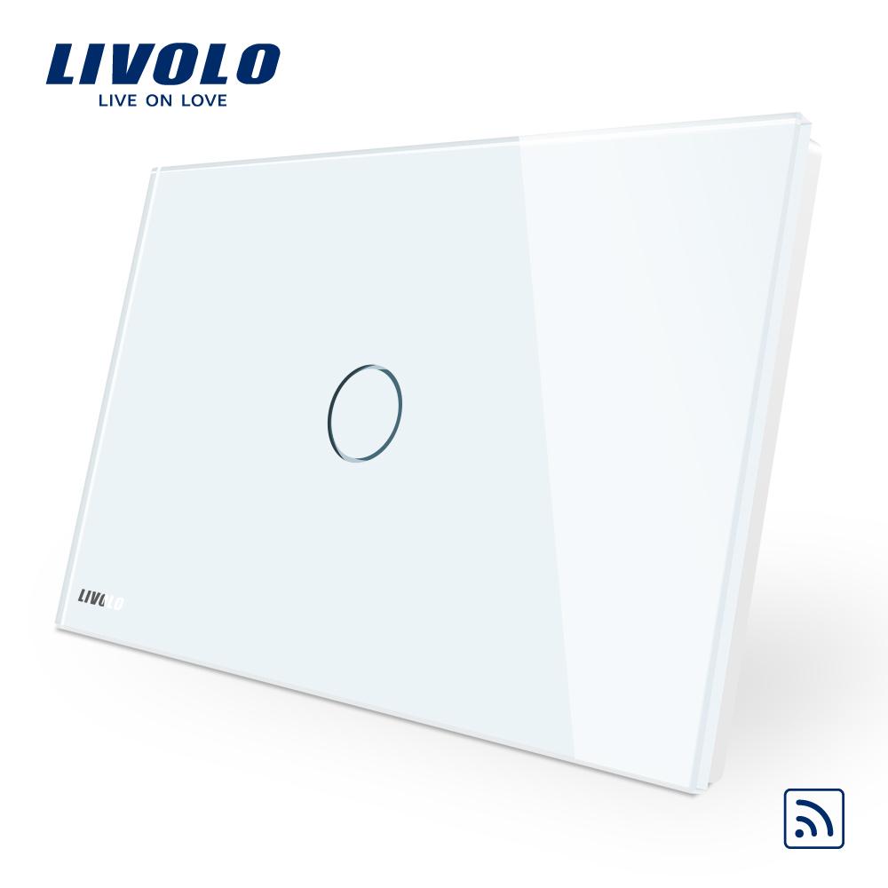 Intrerupator simplu wireless cu touch Livolo din sticla – standard italian imagine case-smart.ro 2021