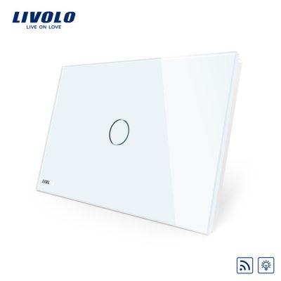Intrerupator cu variator wireless cu touch Livolo din sticla – standard italian