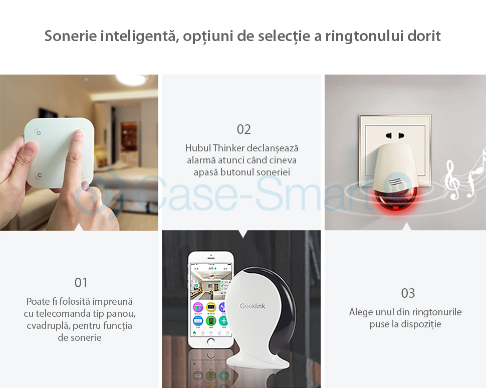 Sirena inteligenta wireless Geeklink