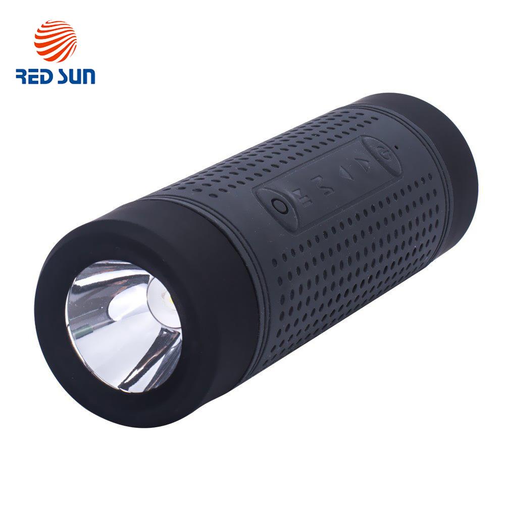 Boxa portabila cu Bluetooth, radio FM Red Sun, lanterna, powerbank