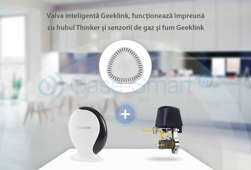Electrovalva inteligenta pentru apa sau gaz Geeklink