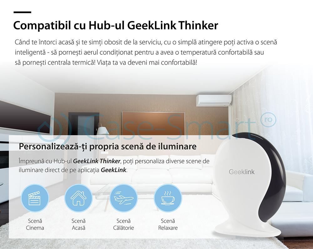 Intrerupator simplu inteligent Geeklink USFB2-1