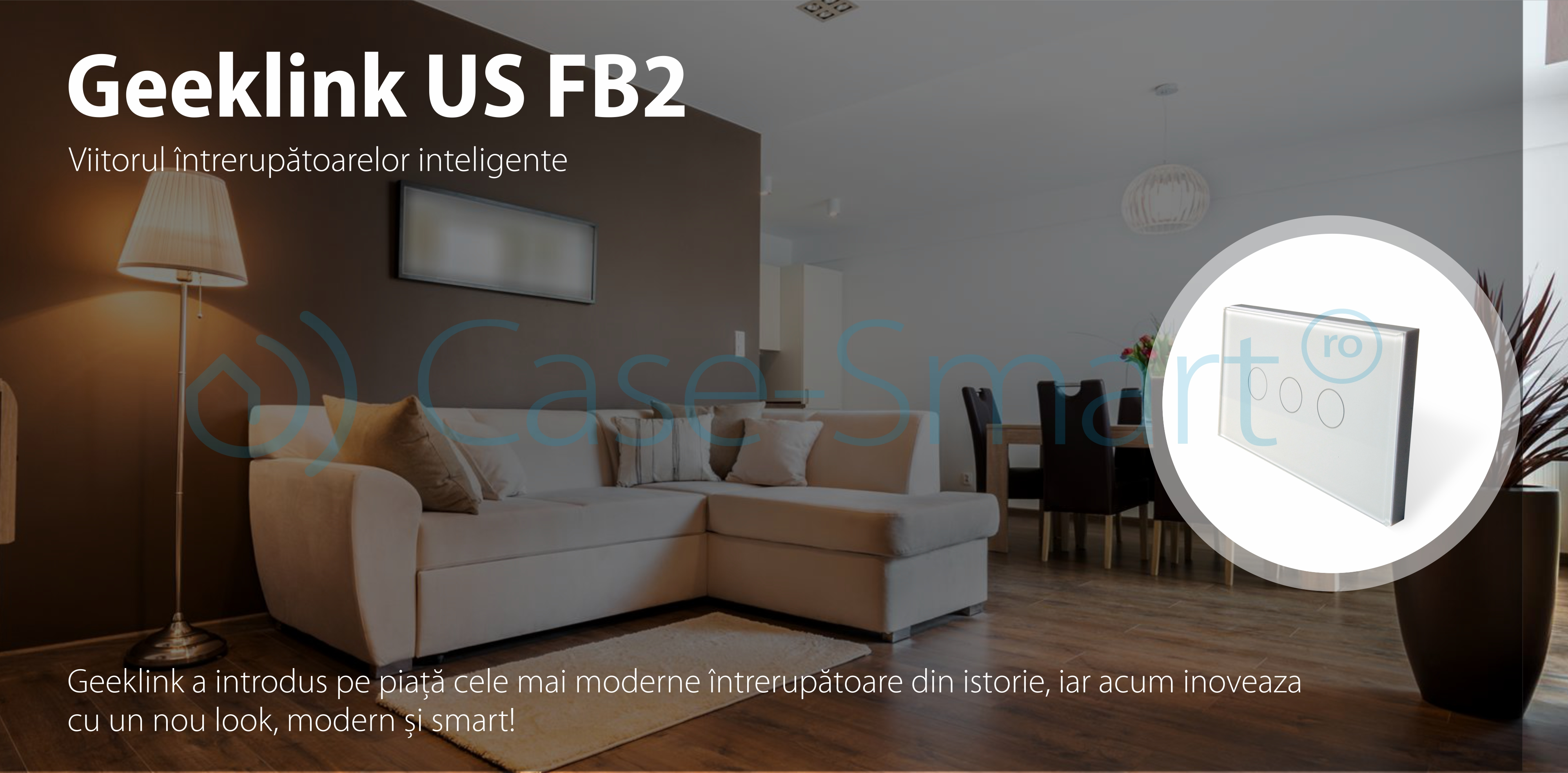 Intrerupator triplu inteligent Geeklink USFB2-3