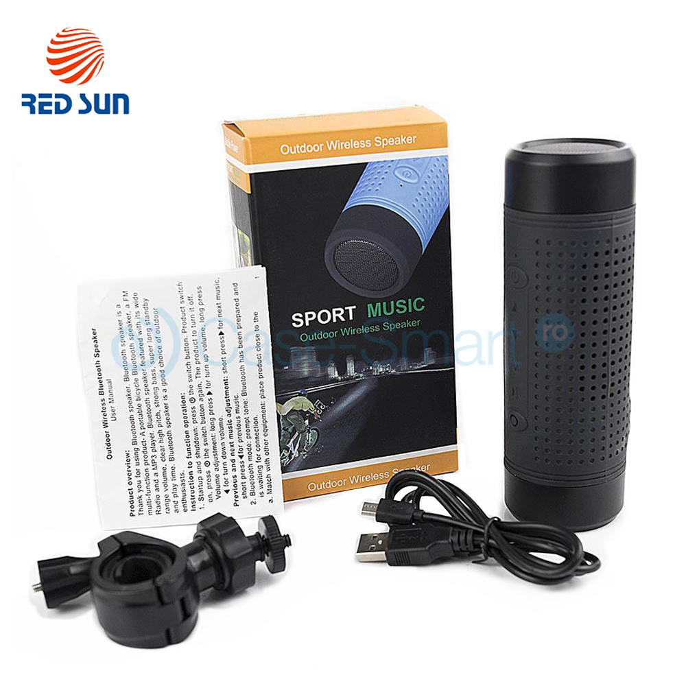 Imagine Boxa Portabila Cu Bluetooth, Radio Fm Red Sun, Lanterna, Powerbank