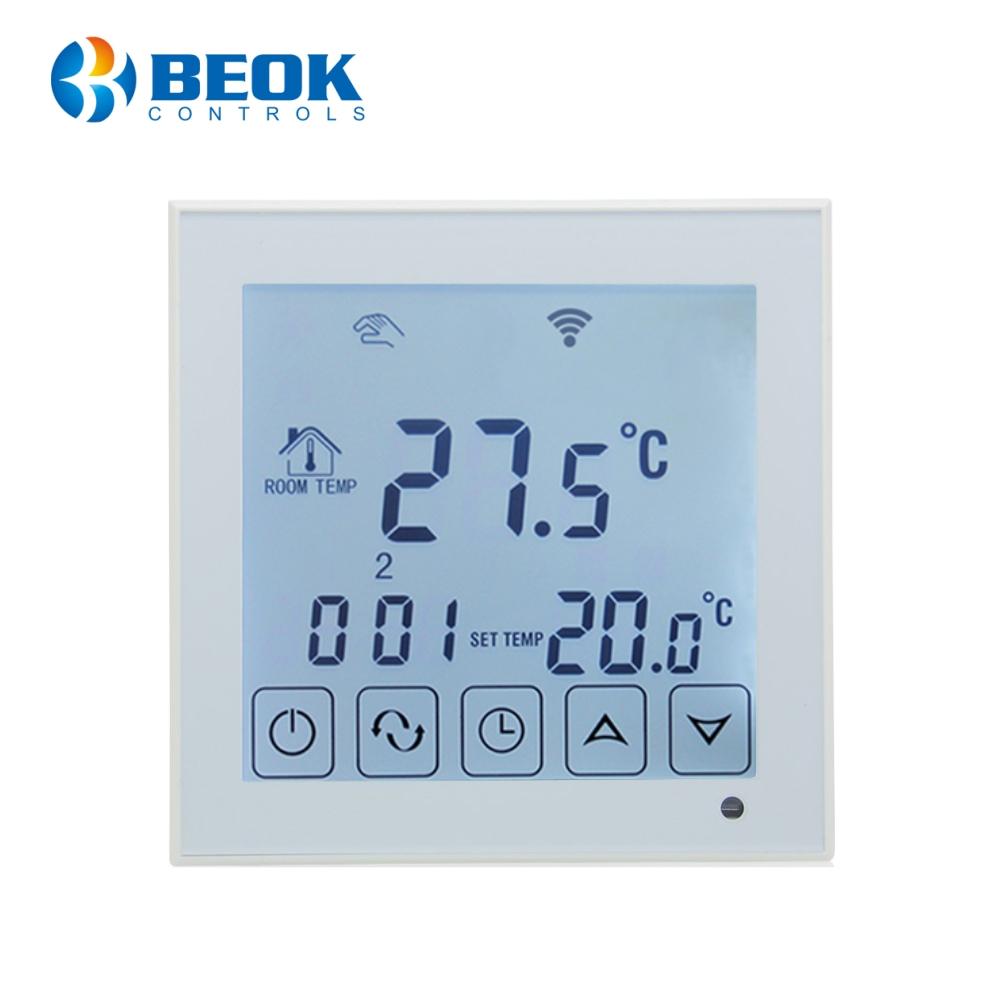 Termostat Wi-Fi pentru incalzirea electrica in pardoseala BeOk TDS23WIFI-EP imagine case-smart.ro 2021
