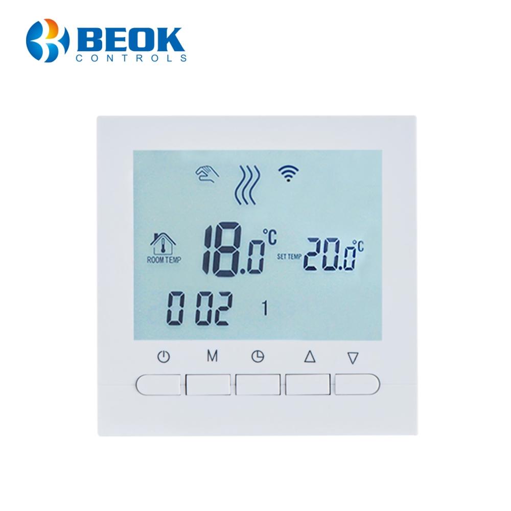 Termostat WiFi pentru centrala termica pe gaz si incalzire in pardoseala BeOk BOT-313WiFi imagine case-smart.ro 2021