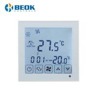 Termostat cu fir pentru aer conditionat BeOk TDS23WiFi-AC, Control de pe telefonul mobil, Compatibil cu sisteme HVAC