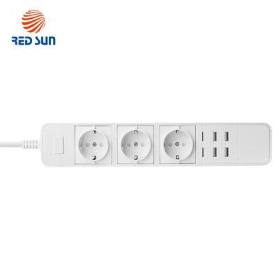 Prelungitor inteligent RedSun 3 prize si 4 porturi USB, control de pe telefonul mobil