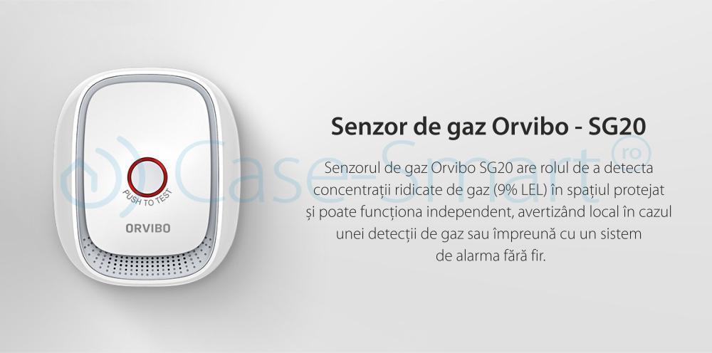 Senzor si detector de gaz Orvibo, protocol ZigBee