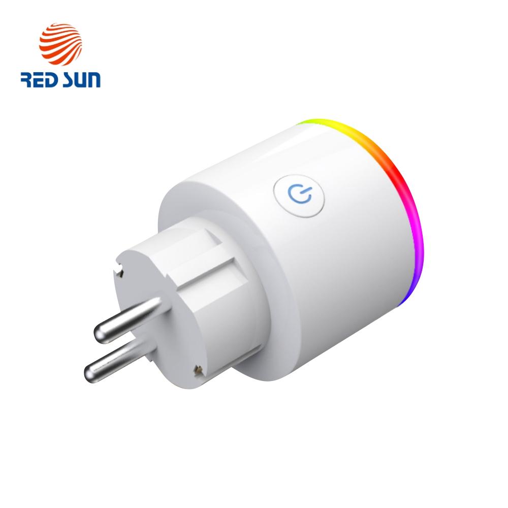 Priza inteligenta RedSun Wi-Fi cu monitorizare de energie si indicator led, Control de pe telefonul mobil imagine case-smart.ro 2021