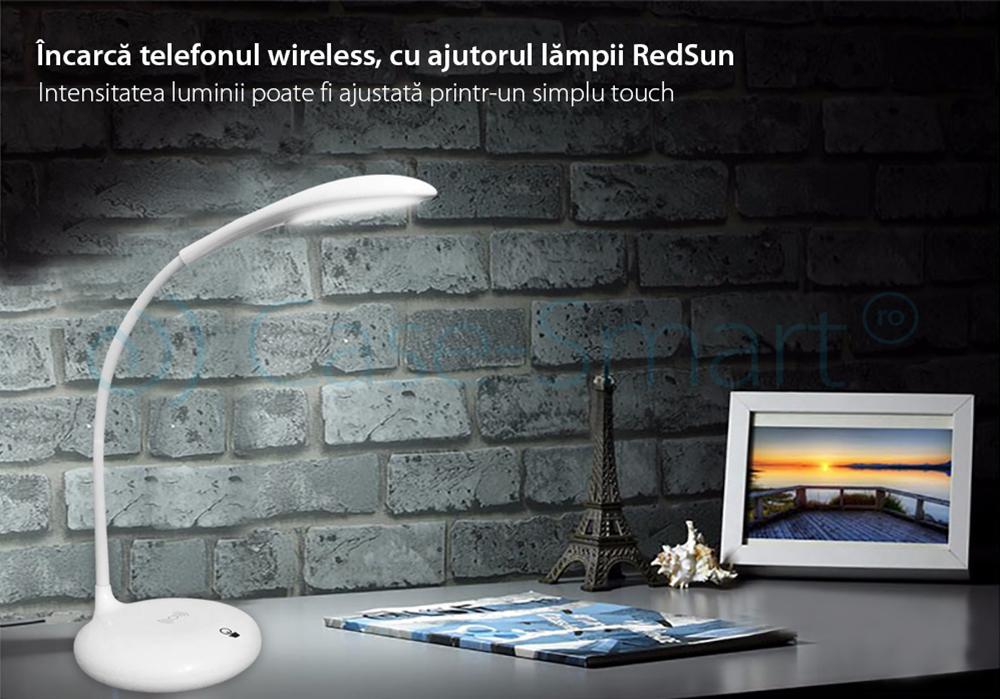 Lampa de birou cu incarcare wireless QI pentru telefonul mobil – RS-LTL-S10W-WC