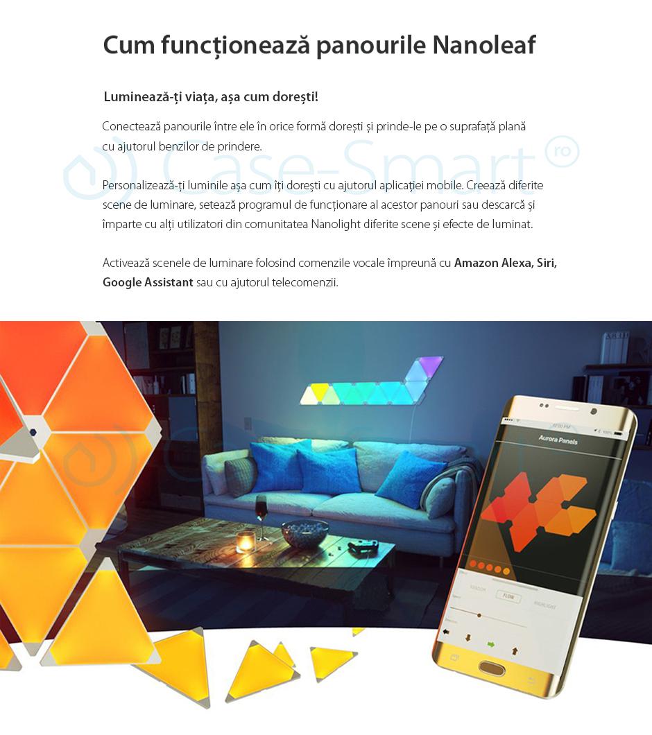 Pachet Promo Kit 9 panouri Aurora Rhythm si telecomanda Nanoleaf
