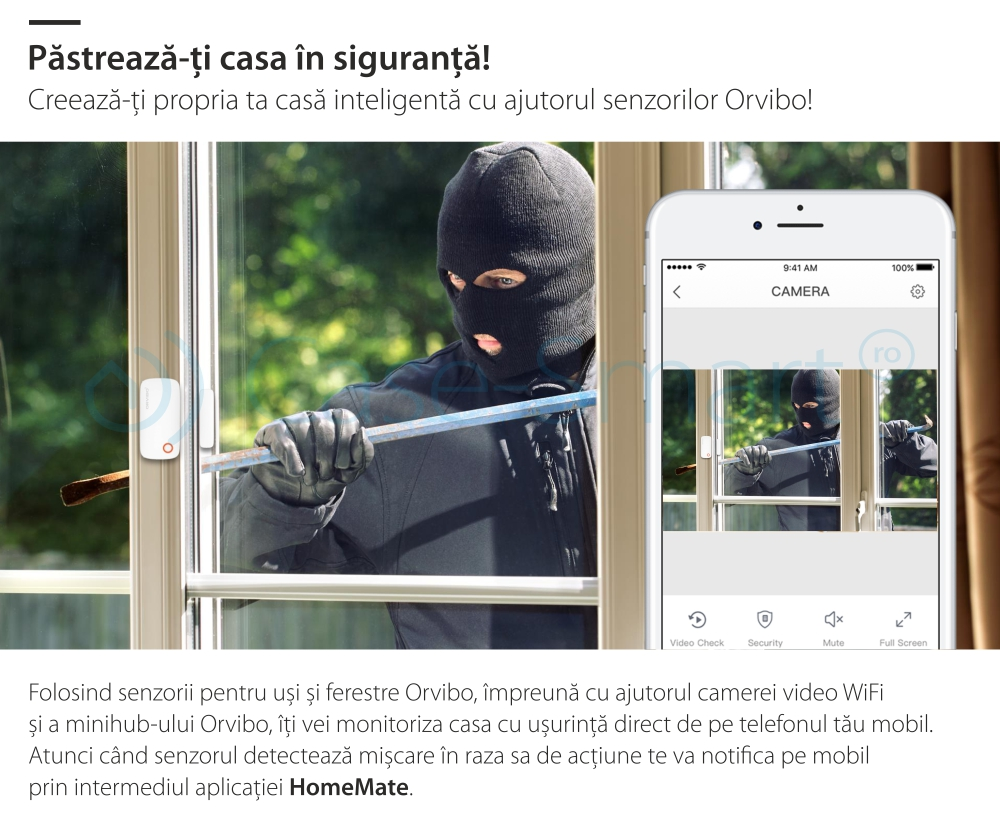 Senzor pentru usi si ferestre Orvibo, protocol ZigBee