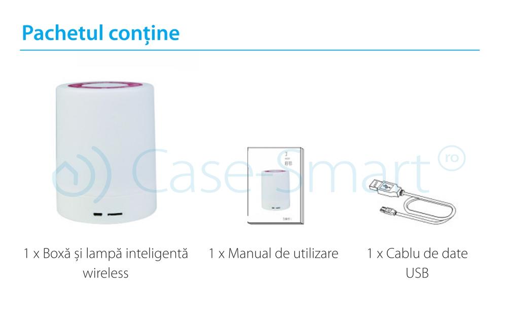 Boxa si lampa inteligenta cu bluetooth si wireless RedSun RS-WBSL-V1