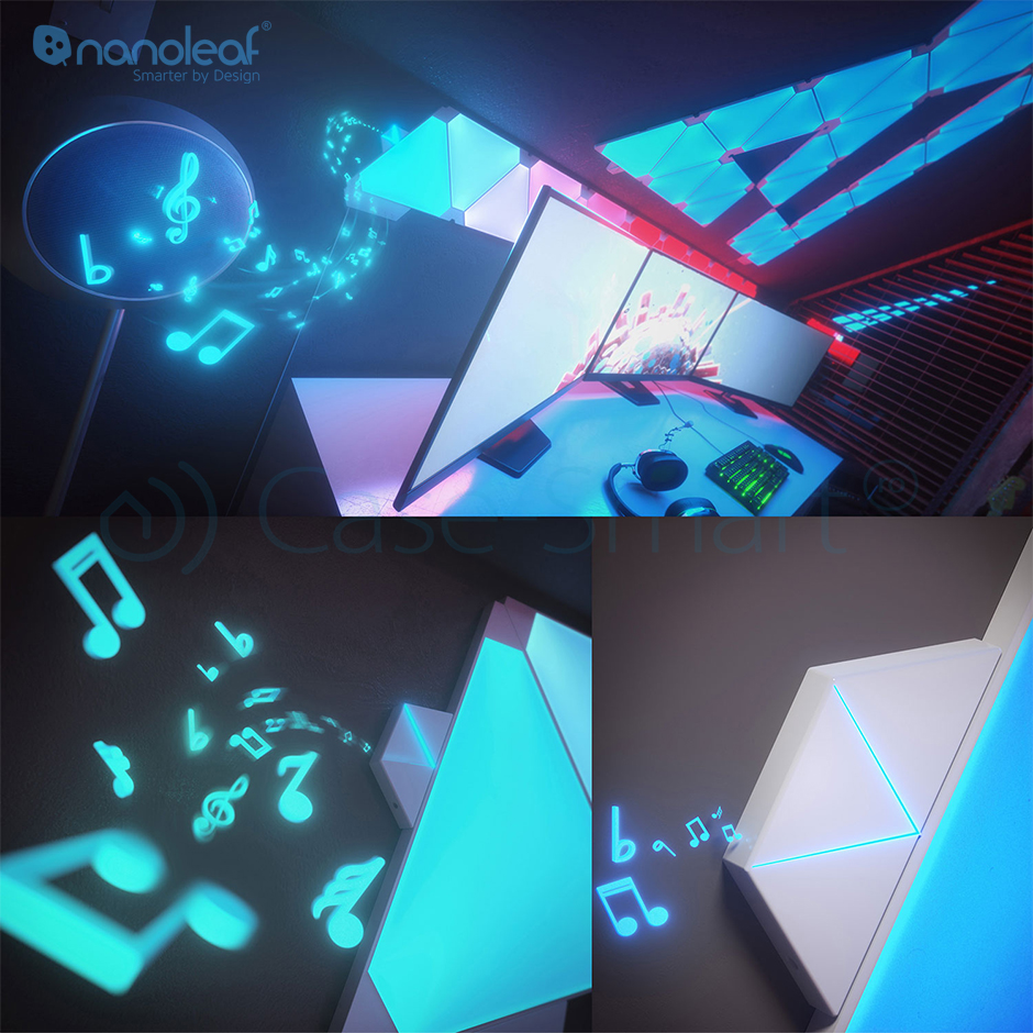 Pachet Promo 15 panouri cu senzor muzica Aurora Rhythm si telecomanda