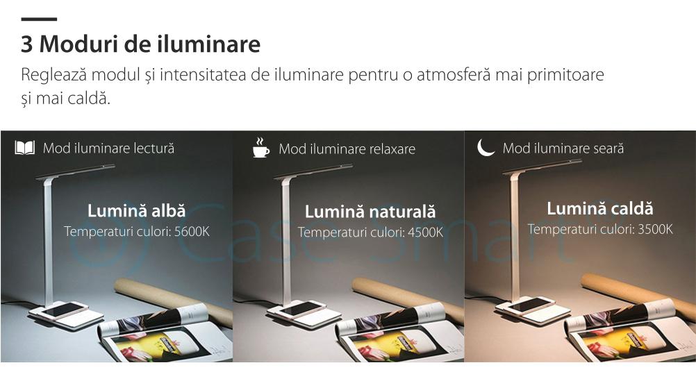 Lampa de birou cu incarcare wireless QI pentru telefonul mobil – RS-LTL-510UW