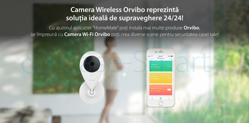 Camera de supraveghere inteligenta Wi-Fi Orvibo cu infrarosu
