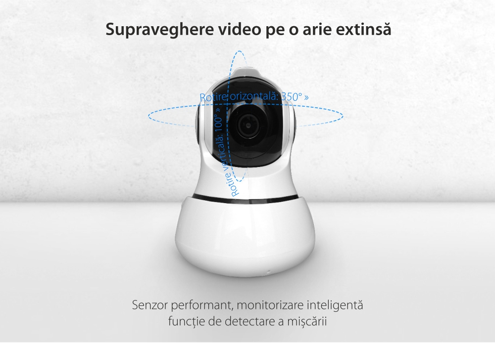 Camera de supraveghere inteligenta 360 Wi-Fi, Orvibo cu infrarosu – SC30PT
