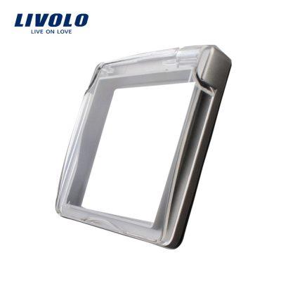 Capac de protectie rezistent la apa pentru prizele din sticla Livolo culoare gri