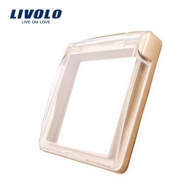 Capac de protectie rezistent la apa pentru prizele din sticla Livolo culoare aurie
