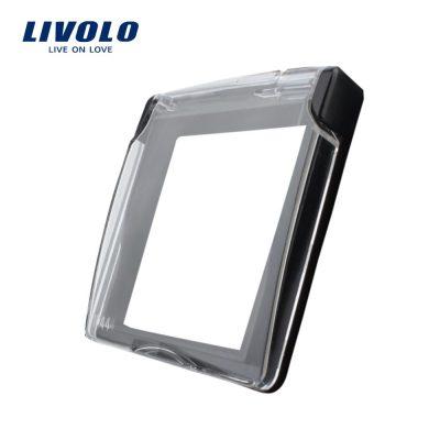 Capac de protectie rezistent la apa pentru prizele din sticla Livolo culoare neagra