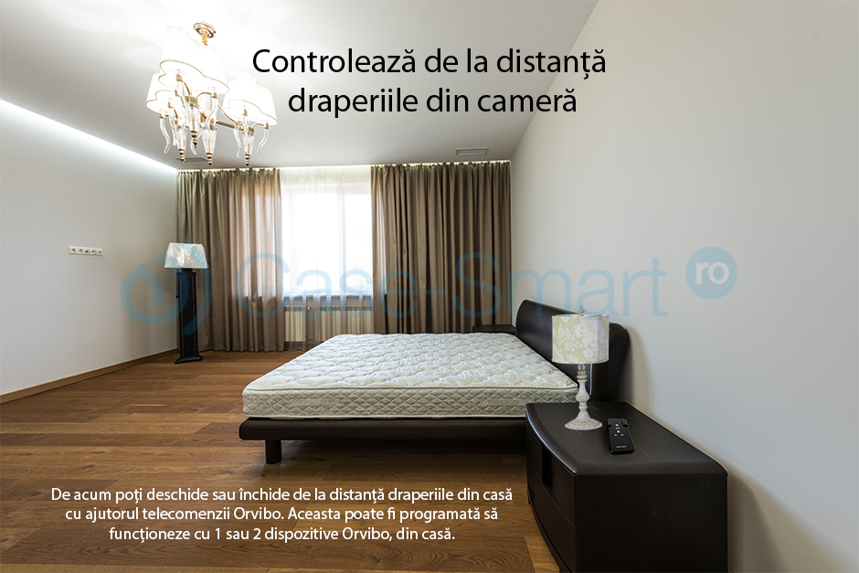 Telecomanda Orvibo pentru draperii si usi garaj