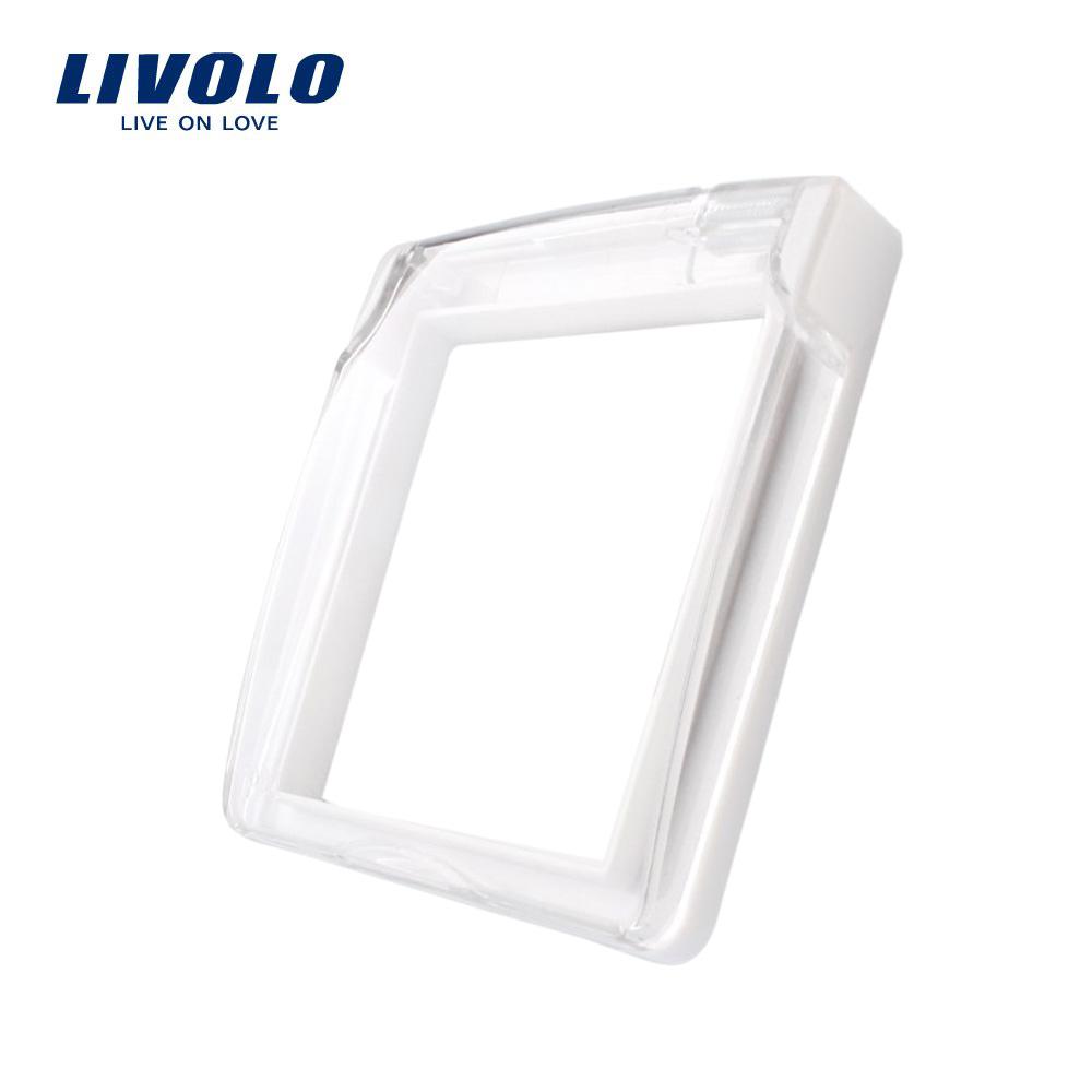 Capac de protectie rezistent la apa pentru prizele din sticla Livolo imagine case-smart.ro 2021