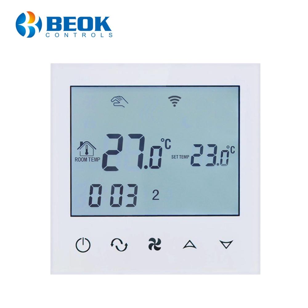 Termostat cu fir pentru aer conditionat BeOk TDS21WIFI-AC2, Control de pe telefonul mobil, Compatibil cu sisteme HVAC imagine case-smart.ro 2021