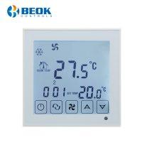 Termostat cu fir pentru aer conditionat BeOk TDS23-AC2, Compatibil cu sisteme HVAC