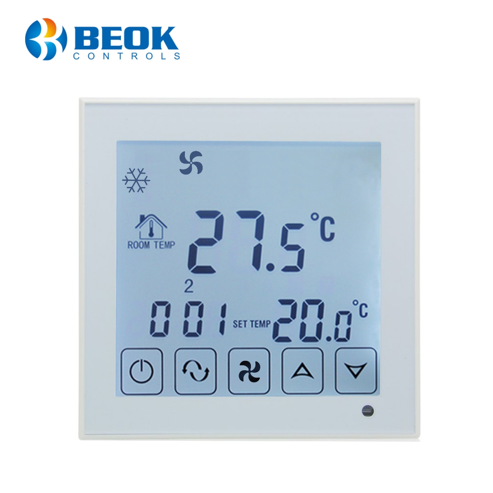 Termostat cu fir pentru aer conditionat BeOk TDS23-AC2, Compatibil cu sisteme HVAC imagine case-smart.ro 2021