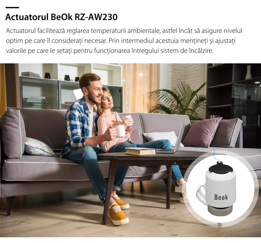 Actuator termic normal inchis BeOk RZ-AW230-NC