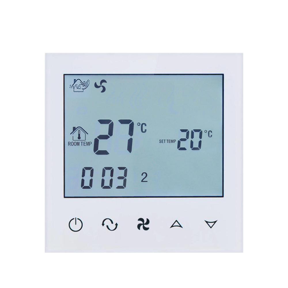 Termostat cu fir pentru aer conditionat BeOk TDS21-AC2, Compatibil cu sisteme HVAC imagine case-smart.ro 2021