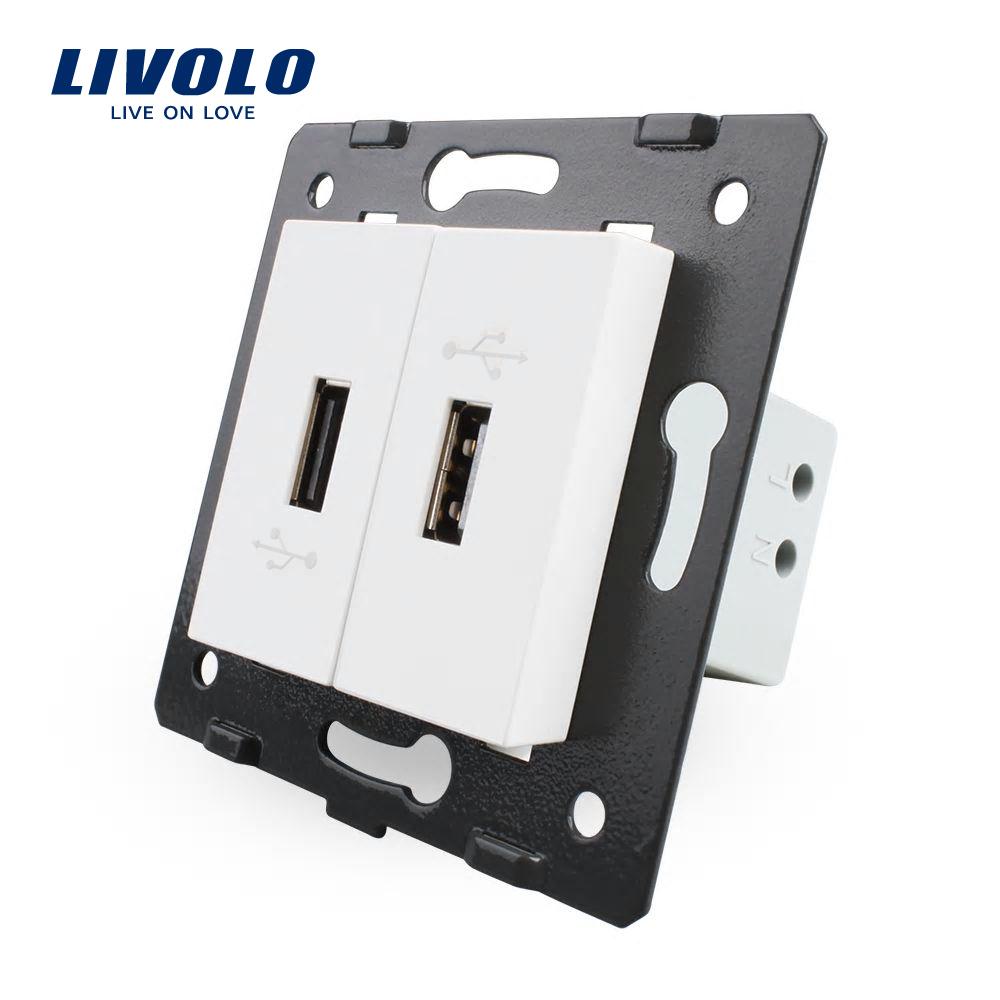 Priza Dubla USB Livolo imagine case-smart.ro 2021