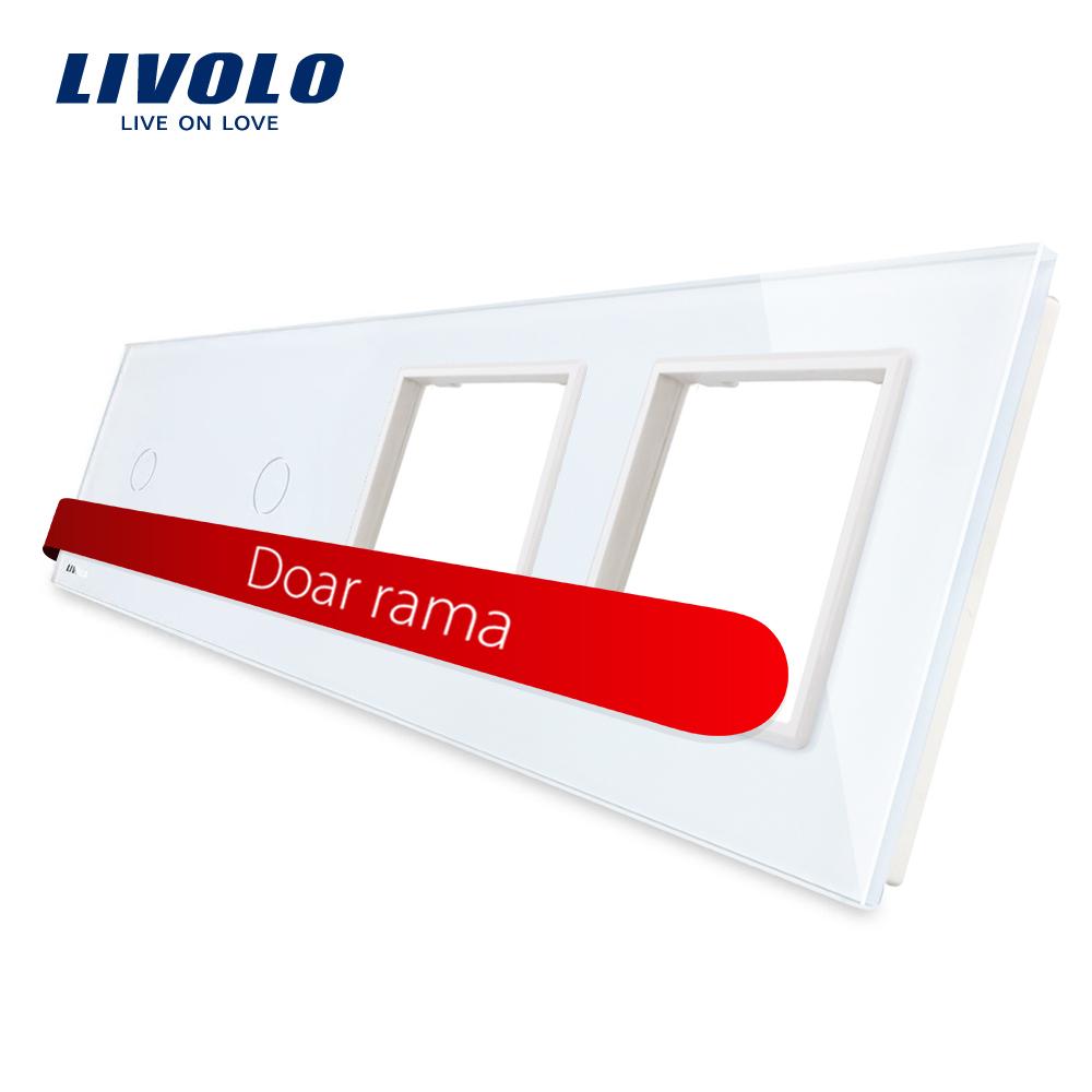 Panou 2 intrerupatoare simple cu touch si 2 prize LIVOLO din sticla imagine case-smart.ro 2021