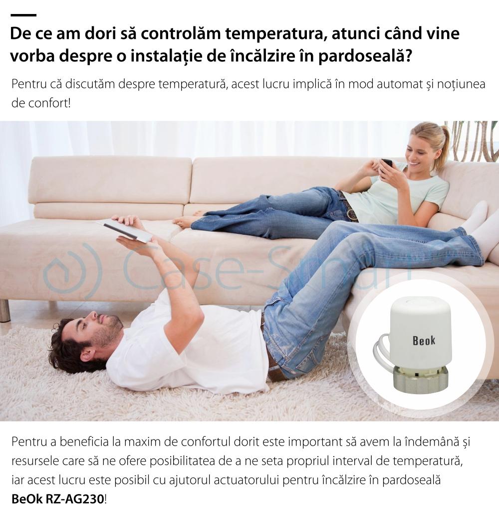 Actuator termic normal inchis BeOk RZ-AG230-NC
