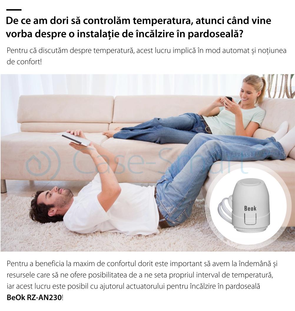 Actuator termic normal inchis BeOk RZ-AN230-NC