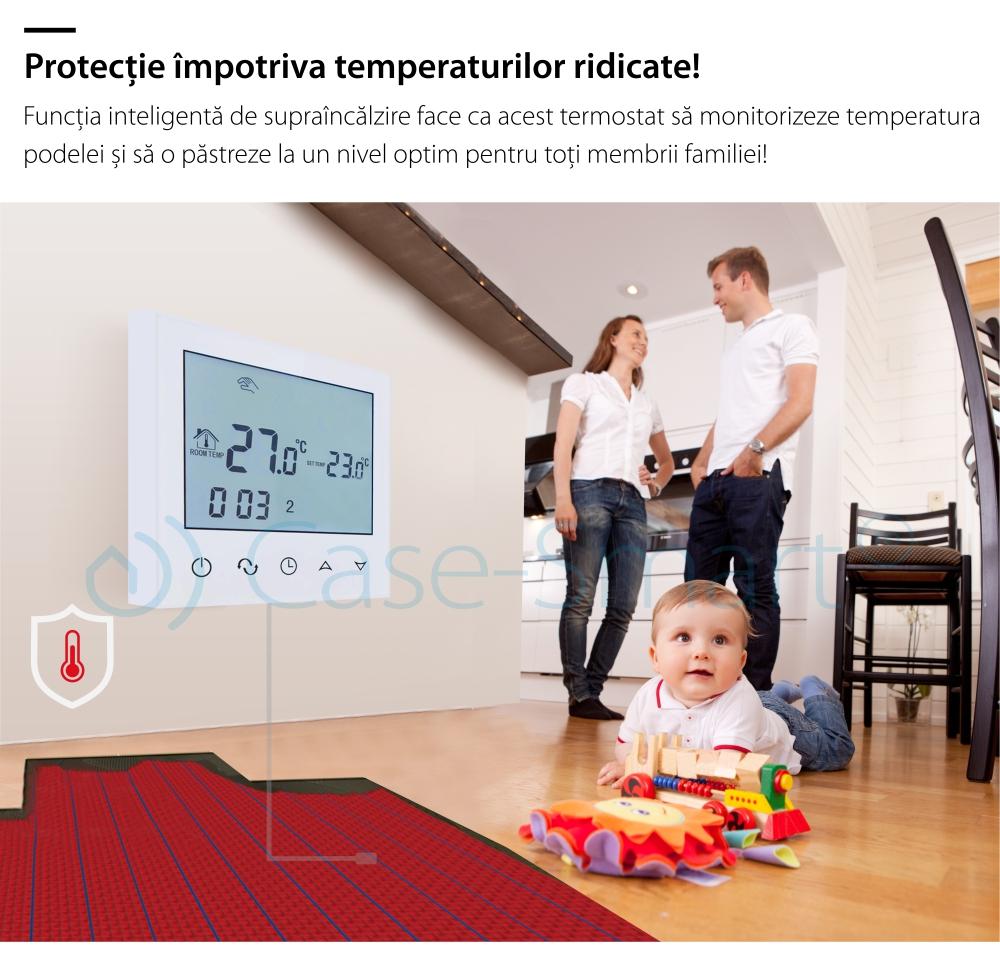 Termostat pentru incalzirea electrica in pardoseala BeOK TDS21-EP