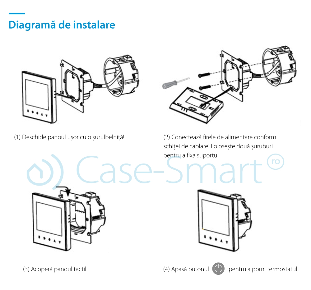 Termostat pentru incalzirea electrica in pardoseala BeOK TDS23-EP