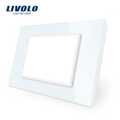 Rama priza tripla LIVOLO din sticla – standard italian