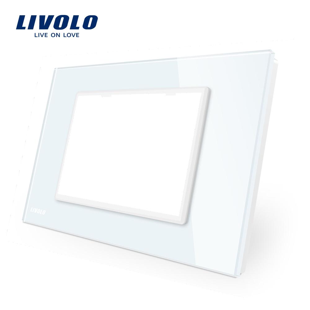 Rama priza tripla LIVOLO din sticla – standard italian imagine case-smart.ro 2021