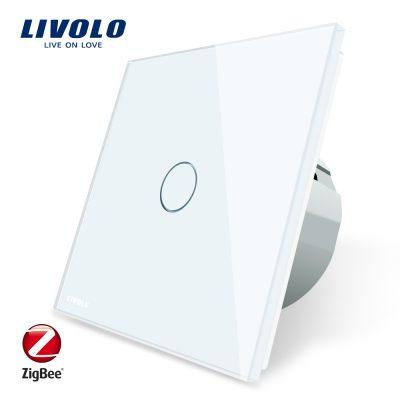 Intrerupator simplu cu touch Livolo din sticla – protocol ZigBee, Control de pe telefonul mobil