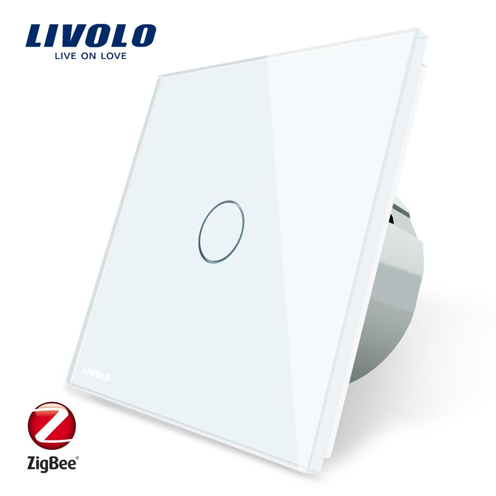 Intrerupator simplu cu touch Livolo din sticla – protocol ZigBee, Control de pe telefonul mobil imagine case-smart.ro 2021