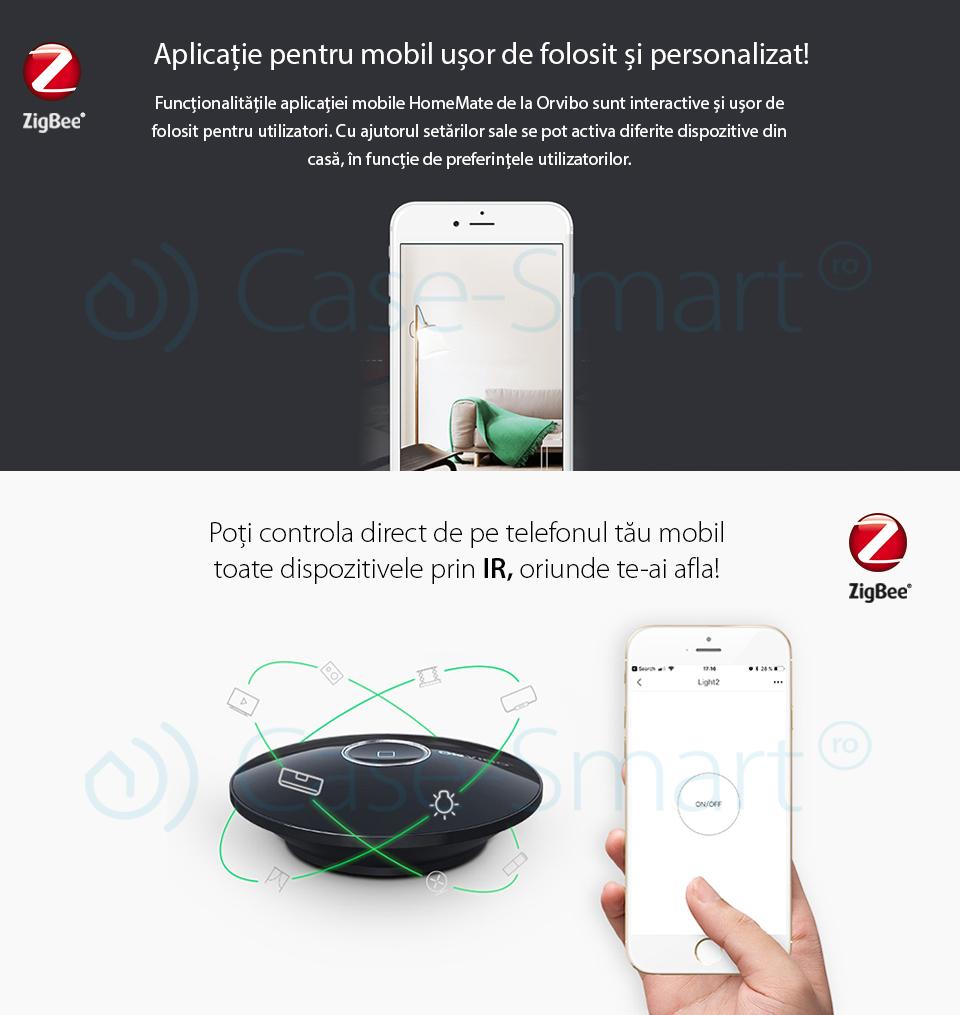 Telecomanda IR prin protocol ZigBee – Orvibo