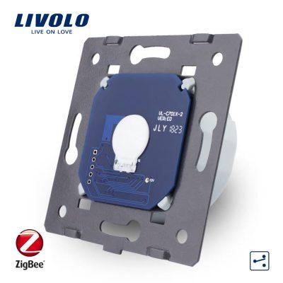 Modul Intrerupator simplu cap-scara cap-cruce cu touch Livolo – protocol ZigBee