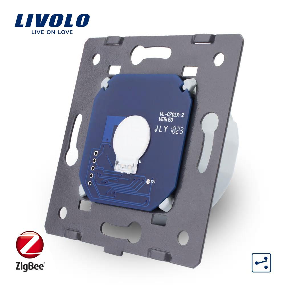 Modul Intrerupator simplu cap-scara cap-cruce cu touch Livolo – protocol ZigBee imagine case-smart.ro 2021