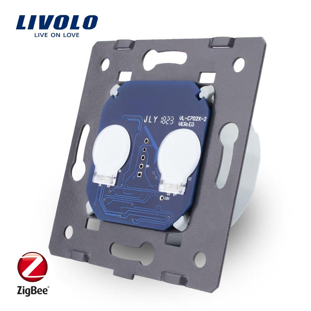 Modul Intrerupator dublu cu touch Livolo – protocol ZigBee imagine case-smart.ro 2021