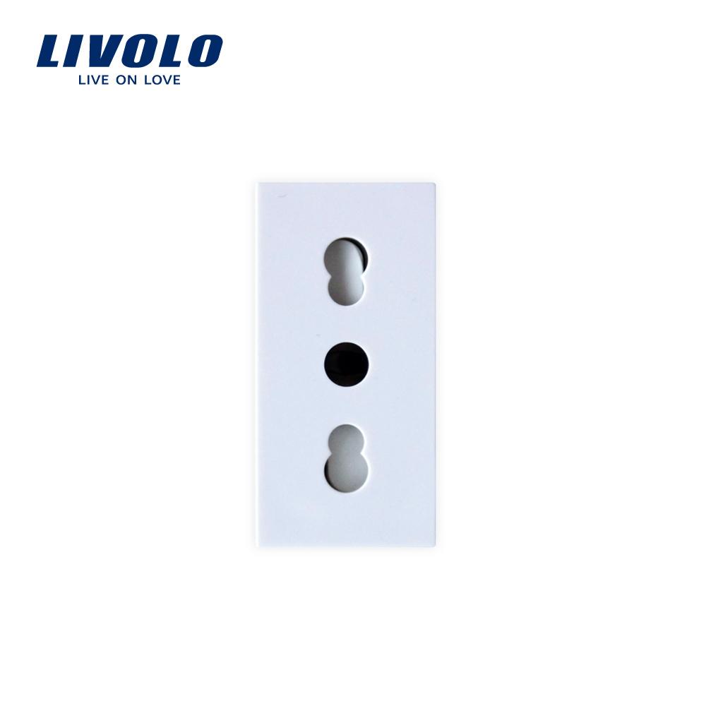 Modul priza simpla ingusta LIVOLO imagine case-smart.ro 2021